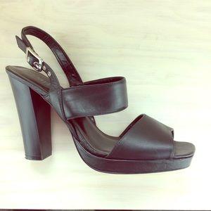 """Charles by Charles David black sandals 4"""" heels"""